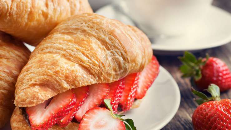 Croissants with Strawberry